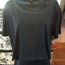 Nwt Mossimo Cropped Heathered Junior's Gray Tee Size L Photo