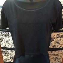 Nwt Mossimo Cropped Heathered Junior's Gray Tee Size S Photo