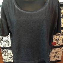 Nwt Mossimo Cropped Heathered Junior's Gray Tee Size Xl Photo
