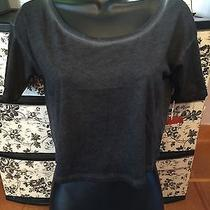 Nwt Mossimo Cropped Heathered Junior's Gray Tee Size Xs Photo