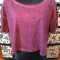 Nwt Mossimo Cropped Heathered Junior's Plum Tee Size L Photo