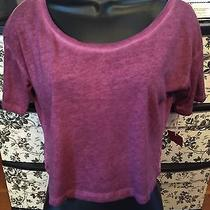 Nwt Mossimo Cropped Heathered Junior's Plum Tee Size S Photo