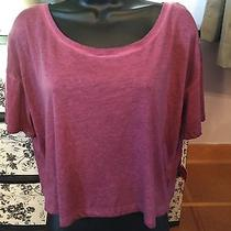 Nwt Mossimo Cropped Heathered Junior's Plum Tee Size Xl Photo