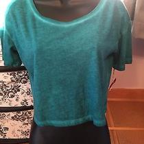 Nwt Mossimo Cropped Heathered Junior's Teal Tee Size S Photo