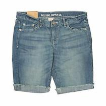Nwt Mossimo Supply Co. Women Blue Denim Shorts 11 Photo
