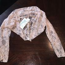 Nwt Moxie Mabel Lace Shrug Blush/pink Size 7 Photo