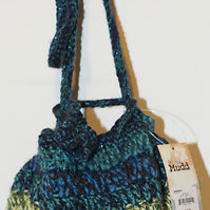 Nwt - Mudd Drawstring Crochet Sweater-Knit Handbag/purse/pouch Photo