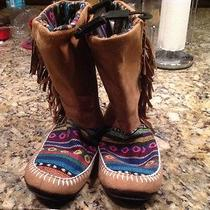 Nwt Muk Luks Brown Tiffany Women's Slipper Boot Size 9/10 Photo