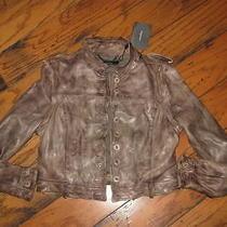 Nwt Muubaa Arlington Leather Jacket Vest 8 M Us Uk 12 Photo