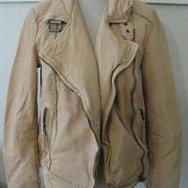 Nwt Muubaa Keeley Leather Biker Jacket Saffron 6 S Uk 10 Photo