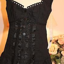 Nwt Nanette Lepore Black Paradise Corset Top Top 280 Sz 0 Photo