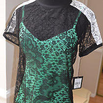 Nwt Nanette Lepore Dj Top Black/clover Women's Xs (0) Photo