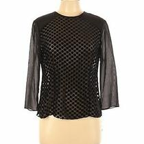 Nwt Nanette Lepore Women Black 3/4 Sleeve Blouse 12 Photo