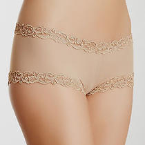 Nwt Natori 756037 Lace Trim Boyshort in Suntan Size M Medium  Free Shipping Photo
