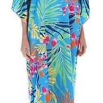 Nwt Natori Long Caftan - Tropical Print - Size Medium -New Photo