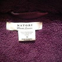 Nwt Natori Plush Robe Solid in Purple in Medium Photo
