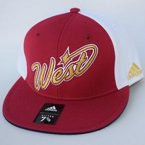 Nwt Nba West Size 7 3/8 Fitted Adidas Flat Bill Baseball Cap Hat Msrp 30 Photo
