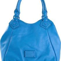 Nwt New 458 Marc Marc Jacobs Pebbled Leather Electro Q Fran Tote Electric Blue Photo