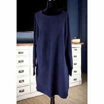 Nwt New 98 Anthropologie Annaliese Textured Tunic Navy Blue Sweater Dress Xl Photo