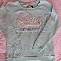 Nwt New Aeo Ae American Eagle Womens Shine L Large Wintergreen Sweatshirt Crew Photo