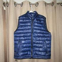 Nwt New Aeropostale Mens Large Blue Filled Jacket Vest Puffer Full Zip Photo