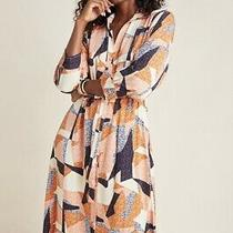 Nwt New Anthropologie Corey Lynn Calter Abstract Shirt Midi Dress Large Photo
