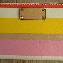 Nwt New Authentic Kate Spade Wallet Neda Grove Street Dunestripe  189.00 Photo