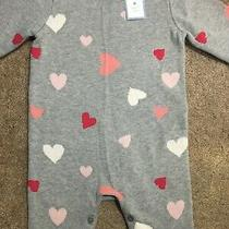 Nwt New Baby Gap Girls Pink White Valentine's Day Heart One Piece Romper 18-24m Photo