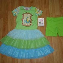 Nwt New Boutique Baby Lulu Bird Birds Tiered Ruffle Tutu Dress 2 Pc Lot 6 Photo