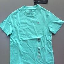 Nwt New Boys Tommy Hilfiger T Shirt Top Size 4-5 Xs Short Sleeve Aqua Blue Tee Photo