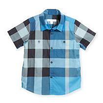 Nwt New Burberry Boys Mini Camber Cornflower Blue Check Button Down Shirt 6y 14y Photo