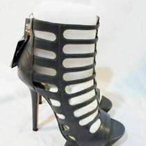 Nwt New Camilla Skovgaard Spear Stiletto Cage Bootie 36.5 6 Grey Leather Photo