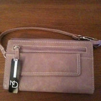 Nwt New Directions Blush Clutch Style Wallet With Wrist Strap Photo