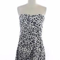 Nwt New Express Black White Snow Leopard Strapless Cocktail Dress Size 8 Photo