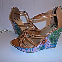 Nwt New Gorgeous G by Guess Flower Print Divinci Wedge Shoe Sz9 1/2 69 Photo