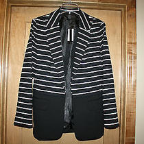 Nwt New Grace Elements Jacket Blazer Size 14 Black With Stripes From Macy's Photo