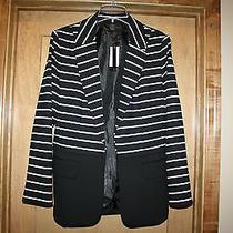 Nwt New Grace Elements Jacket Blazer Size 14 Black With Stripes From Macy's Photo