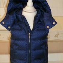 Nwt New Gucci Boys Girls Blue Down Puffer Vest Gg 3/6 6/9 12/18 18/24 36 265555 Photo