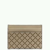 Nwt New Gucci Diamante Leather Tan Card Case Wallet Great Gift Photo