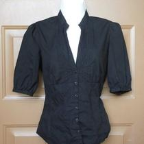 Nwt New Guess Jeans Top Small Black Modal Photo