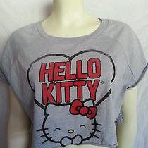 Nwt New Hello Kitty Crop Top Tee Shirt Large Free Shipping Us Photo