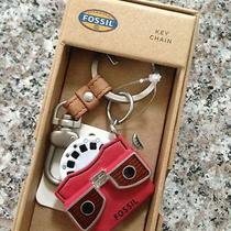 Nwt New in Box Fossil Viewfinder Red View Master Slide Key Chain Ring Retail 40 Photo