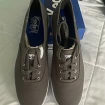 Nwt New Keds Gray Canvas Triple Lifestyle Casual Sneakers Sz. 8.5 Medium Photo