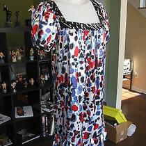 Nwt New Kensie Women's Abstract Polka Dot 100% Silk Dress Size Small Msrp 98 A Photo