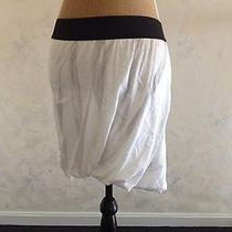 Nwt New Lanston Cotton Tie Dye Skirt White Gray Asymmetrical Bubble L Large 102 Photo