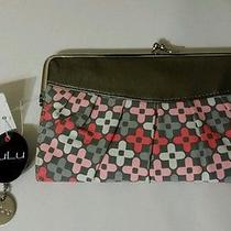 Nwt New Lulu's Nordstrom Grey Pink Envelope Clutch w/i.d.card  Wallet Photo