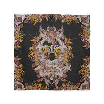 Nwt  New  Mcq by Alexander Mcqueen Square Print Scarf in Fall Colors Photo