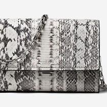 Nwt ( New) Michael Kors Collection Yasmeen Small Snakeskin Clutch Photo