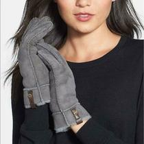 Nwt New Sz Small Ugg Tenney Norsemlt Gloves Sheepskin Fur Lined Suede Gray Blue Photo