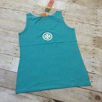 Nwt New Tory Burch Authentic Size L White Logo Applique Light Tank Top Teal Photo